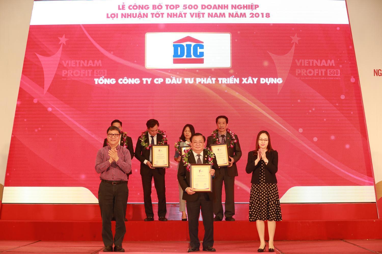 Tập đoàn DIC lọt Top 500 Doanh nghiệp lợi nhuận tốt nhất Việt Nam năm 2018