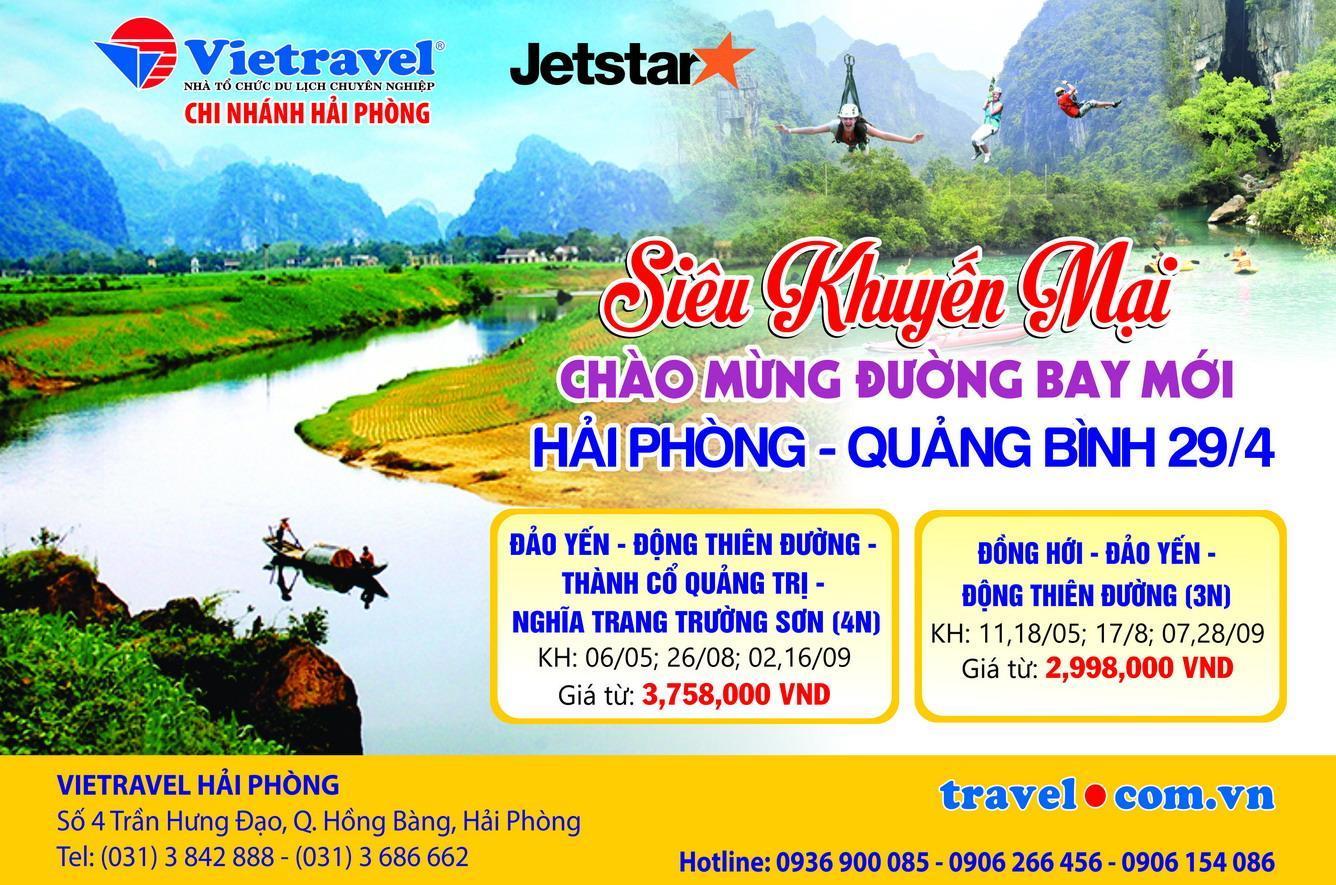 Vietravel Hải Phòng mở bán chùm tour siêu khuyến mại chào mừng đường bay mới Hải Phòng