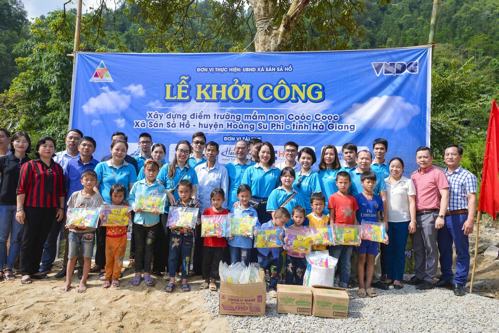Công ty CP Viễn Thông Quốc Tế xây điểm trường mầm non thôn Coóc Coọc Hà Giang