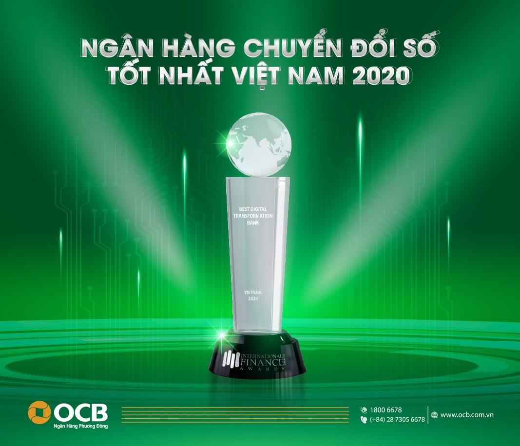 OCB: Ngân hàng chuyển đổi số tốt nhất 2020