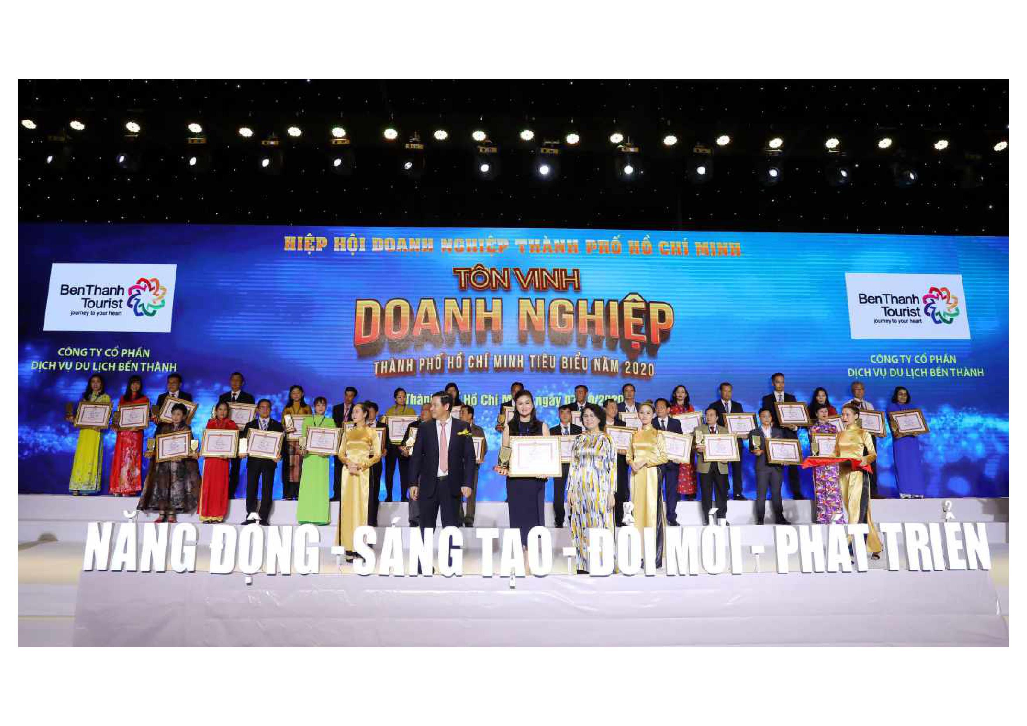 BenThanh Tourist lần thứ 6 đạt TOP 100 Doanh nghiệp TP.HCM tiêu biểu