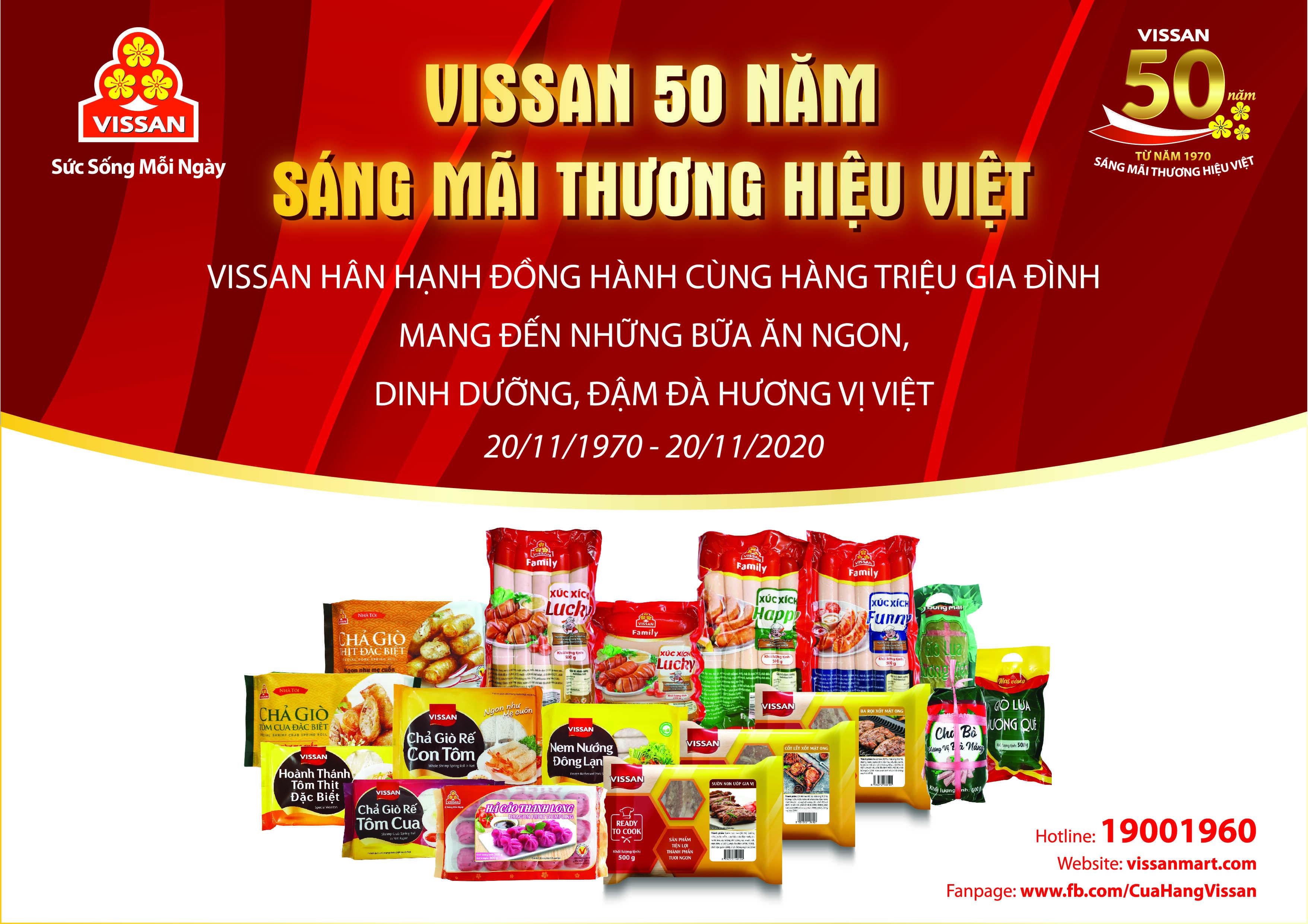 VISSAN - 50 Năm sáng mãi thương hiệu Việt