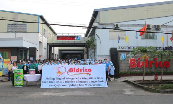 Toàn Thể CBNV Bidrico hưởng ứng chương trình gây gũy cứu trợ đồng bào miền Trung
