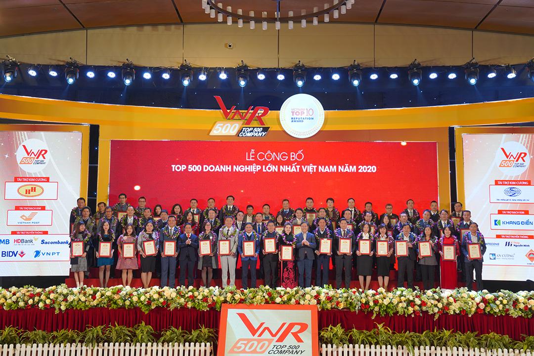 Lễ công bố Top 500 Doanh nghiệp lớn nhất Việt Nam & Top 10 Công ty uy tín các ngành năm 2020