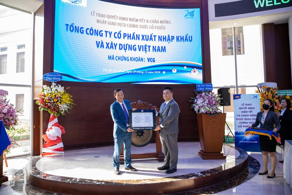 Gần 442 triệu cổ phiếu VCG của Tổng công ty Vinaconex chính thức niêm yết và giao dịch trên HOSE