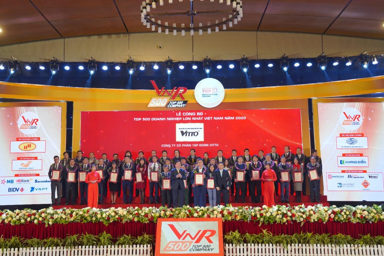 Vitto Group vinh dự nhận danh hiệu Top 500 doanh nghiệp lớn nhất Việt Nam 2020
