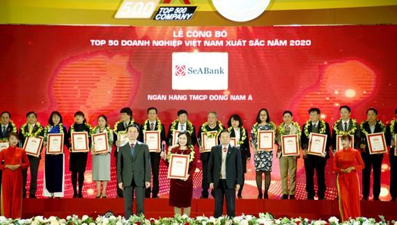 SeABank được xếp hạng Top 50 Doanh nghiệp tư nhân lớn nhất Việt Nam 2020
