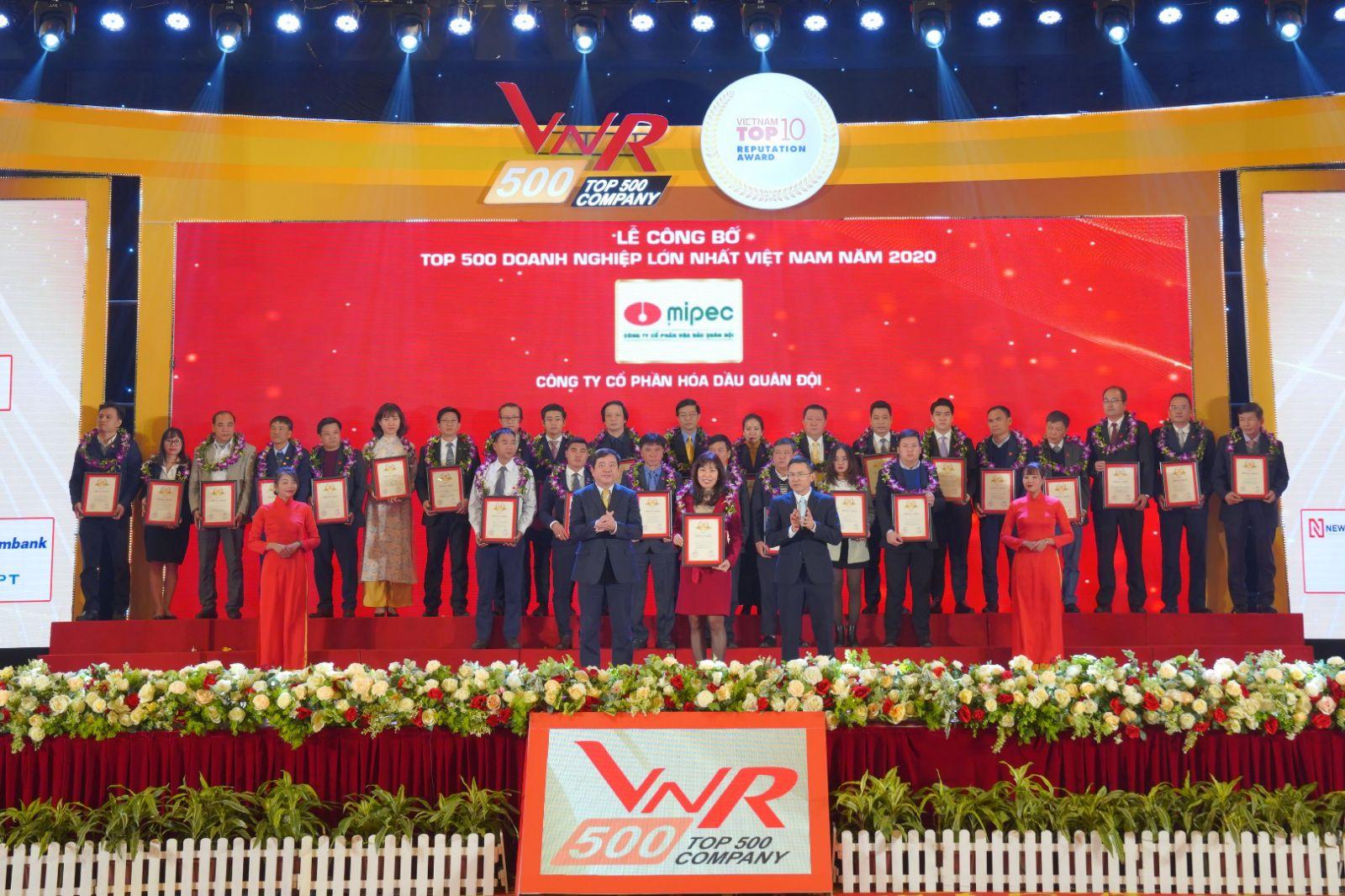 Mipec được vinh danh 12 năm liên tiếp trong bảng xếp hạng VNR500