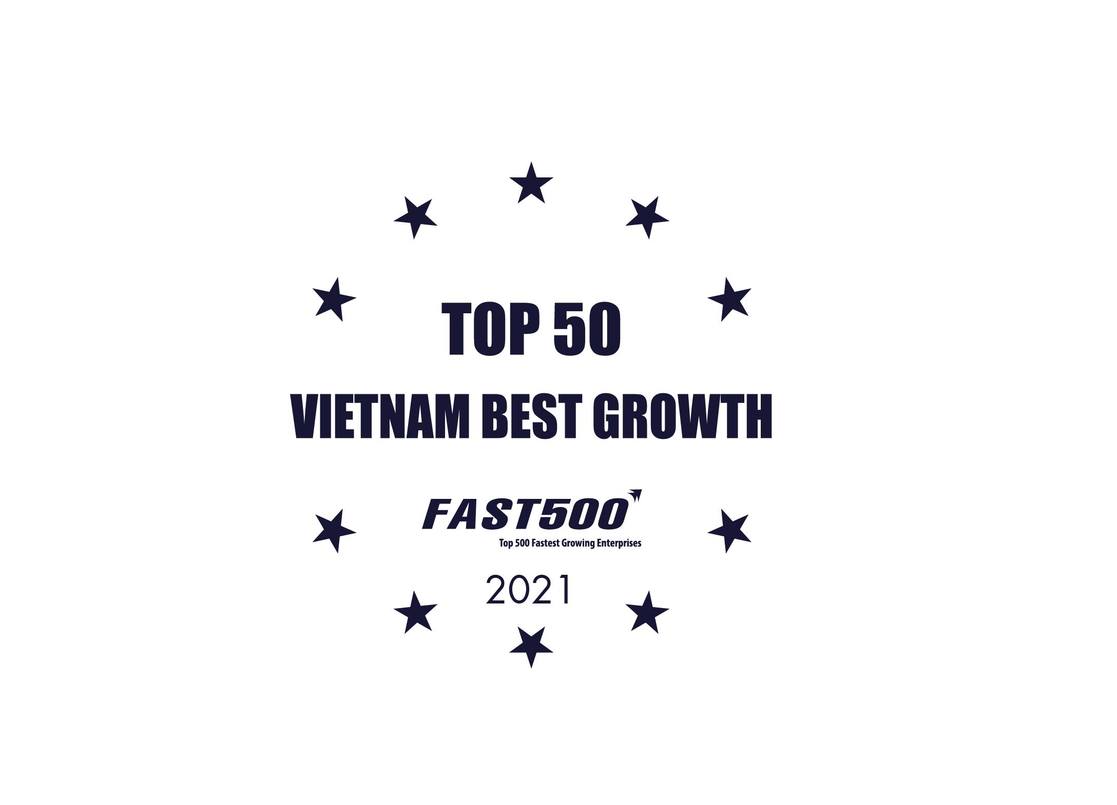 Top 50 doanh nghiệp tăng trưởng xuất sắc nhất Việt Nam năm 2021