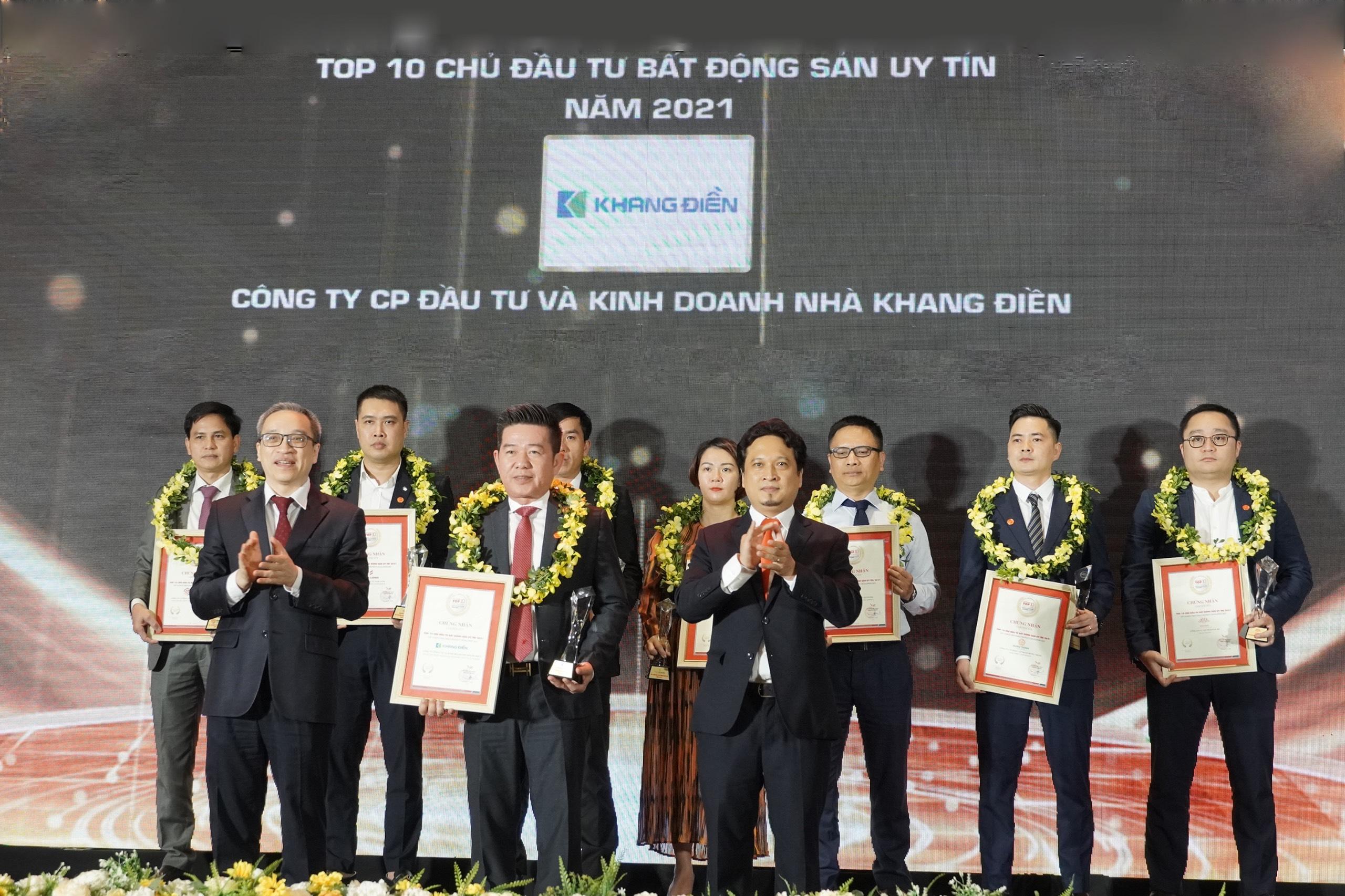 Khang Điền Đạt Top 10 Chủ Đầu Tư Bất Động Sản Uy Tín Năm 2021