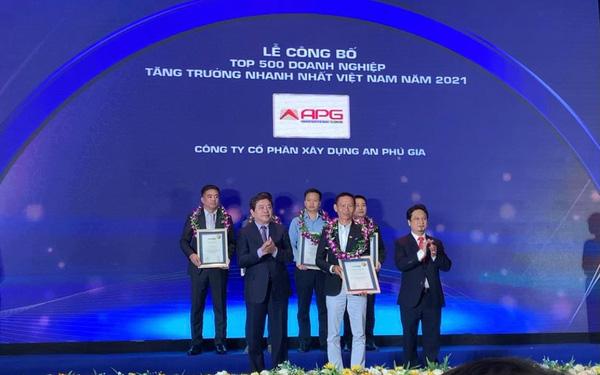 An Phú Gia xuất sắc vào Top 15 doanh nghiệp tăng trưởng nhanh nhất Việt Nam