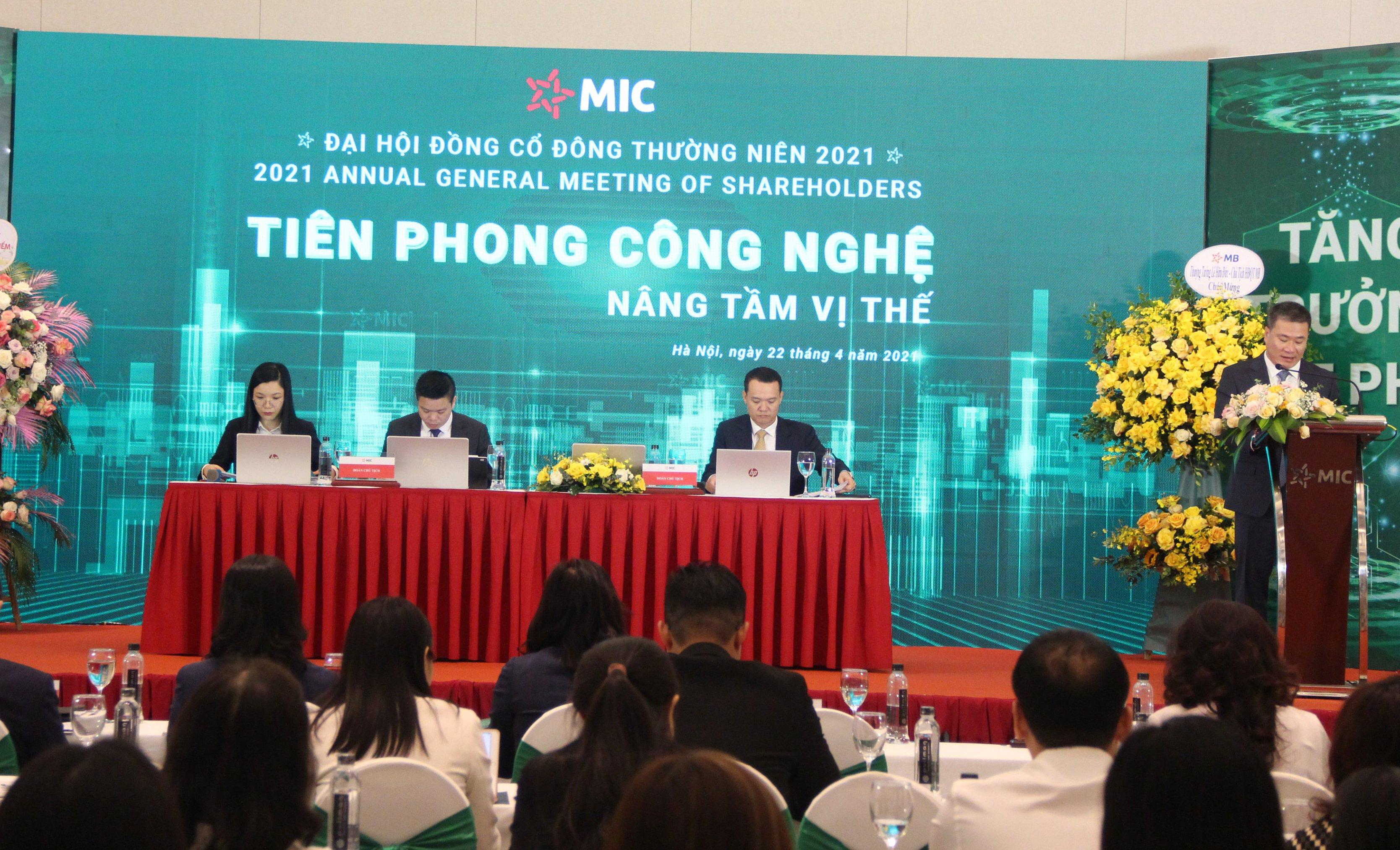 MIC tổ chức thành công Đại hội đồng cổ đông thường niên 2021