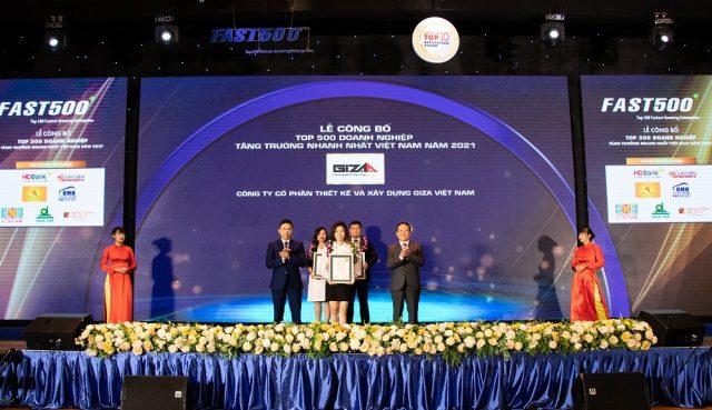 Giza E&C lần thứ hai lọt Top 500 Doanh nghiệp tăng trưởng nhanh nhất Việt Nam 2021