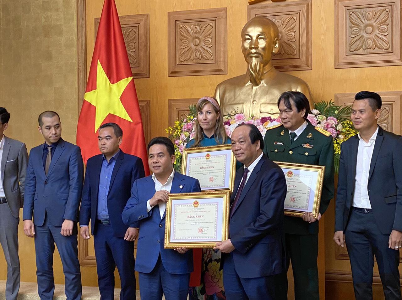 Habeco được trao tặng bằng khen của Bộ trưởng, chủ nhiệm Văn phòng Chính phủ