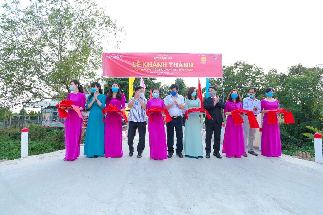Khánh thành cầu trường Tiểu học và THCS Bình Đức (Bến Lức) do Tập đoàn Thắng Lợi tài trợ