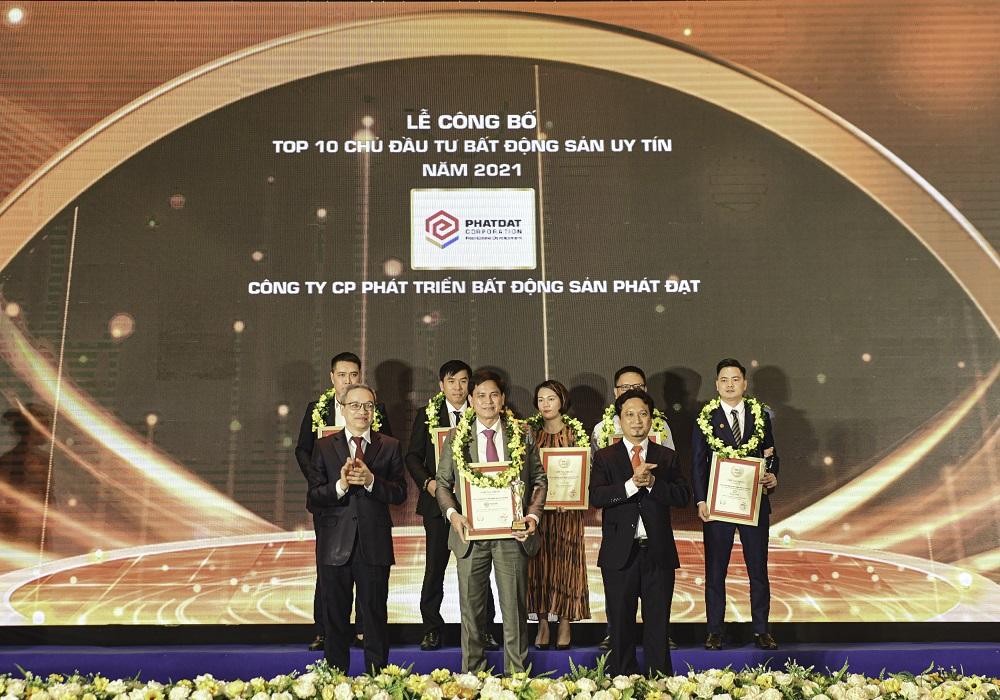 Phát Đạt tiếp tục nằm trong Top chủ đầu tư bất động sản uy tín và tăng trưởng xuất sắc nhất Việt Nam