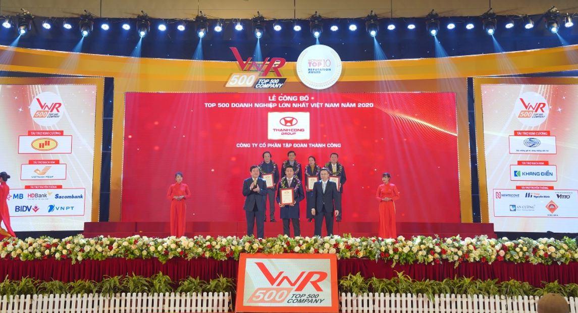 Tập đoàn Thành Công xếp hạng 11 trên bảng xếp hạng Top 500 Doanh nghiệp tư nhân lớn nhất Việt Nam