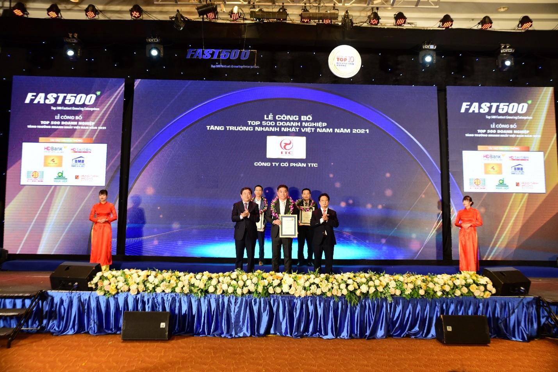 TTC Tự hào nhận Top 11 Doanh nghiệp Tăng Trưởng Nhanh Nhất Việt Nam, và Top 2 ngành Vật liệu Xây dựng năm 2021