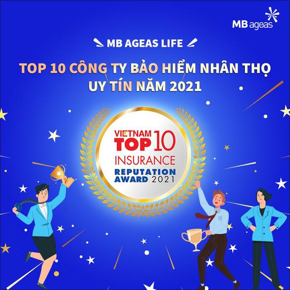 MB Ageas Life thuộc Top 10 Công ty Bảo hiểm nhân thọ uy tín