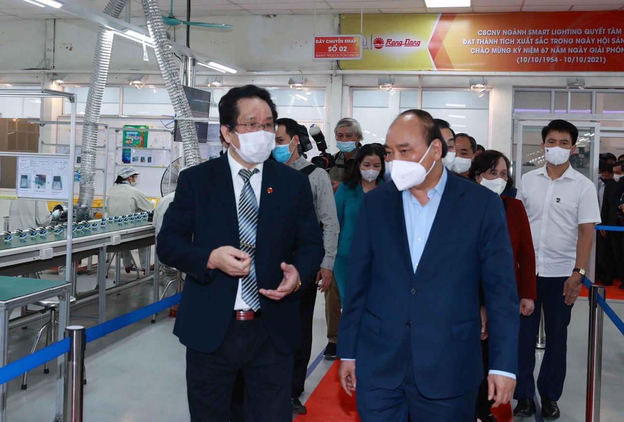 Rạng Đông vinh dự đón Chủ tịch nước Nguyễn Xuân Phúc đến thăm và làm việc