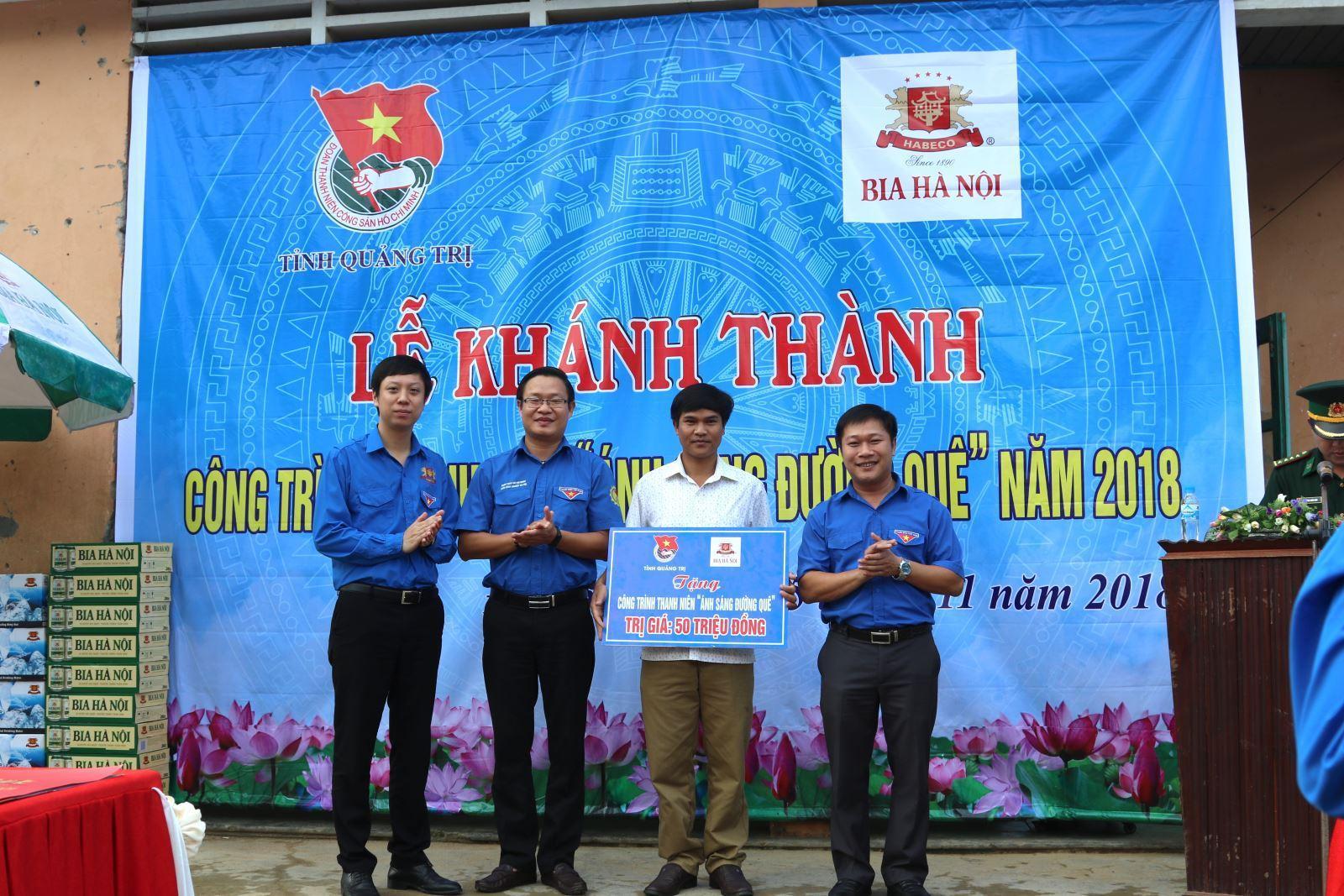 """Habeco khánh thành công trình thanh niên """"Ánh sáng đường quê"""" tại tỉnh Quảng Trị"""