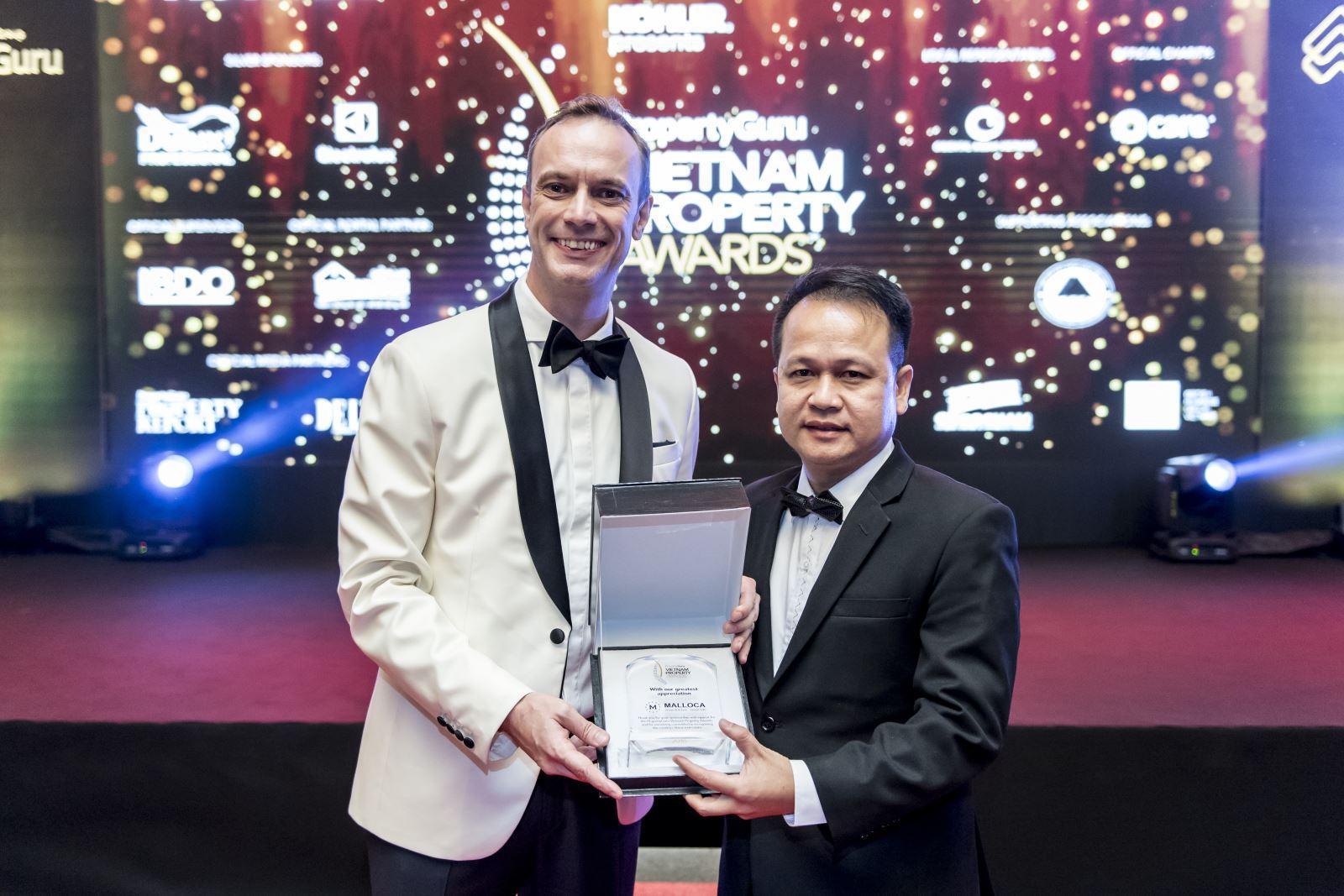 Malloca tài trợ cho giải thưởng Bất động sản Việt Nam 2018