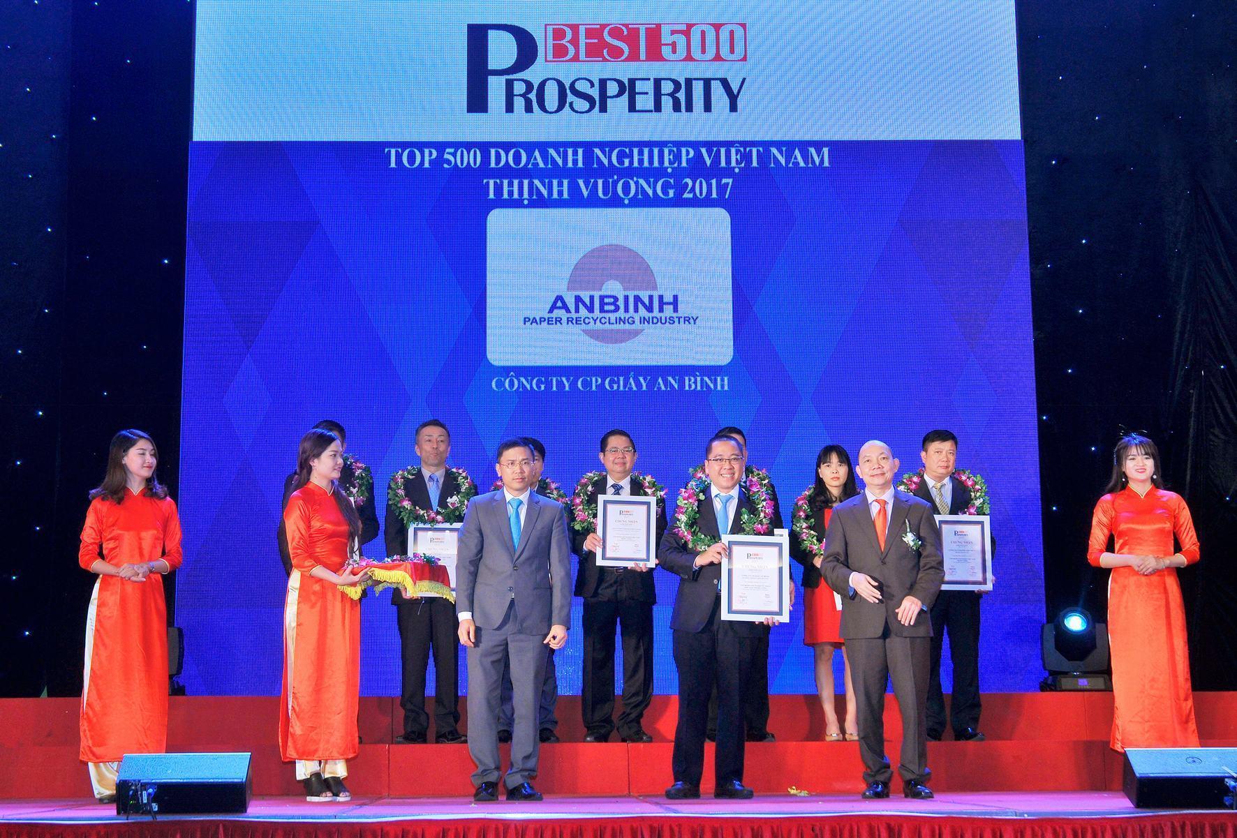 Giấy An Bình lọt vào Top 500 doanh nghiệp tư nhân Việt Nam thịnh vượng năm 2017