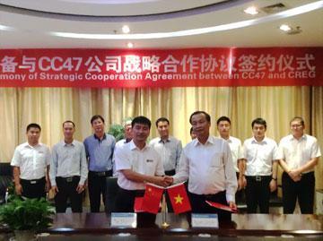 Công Ty CP Xây dựng 47 và CREG WIRTH ký kết hợp tác chiến lược, chuyển giao công nghệ