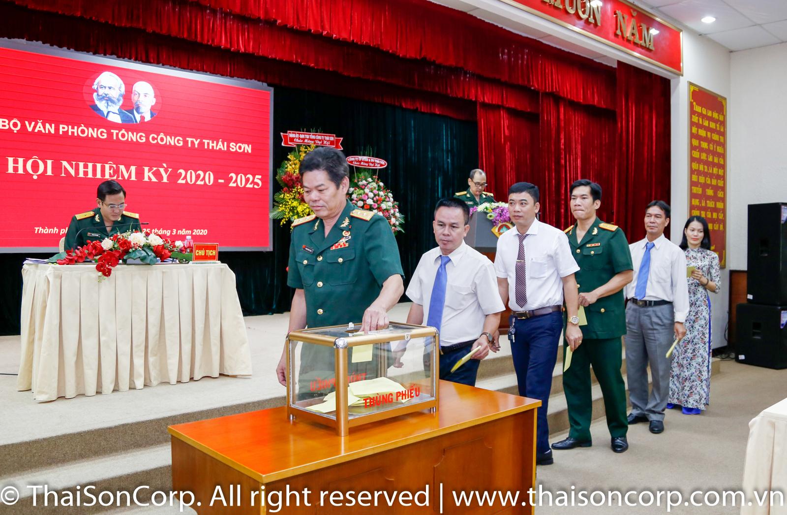 Tổng Công ty Thái Sơn tiến hành đại hội trước cấp tổ chức cơ sở Đảng