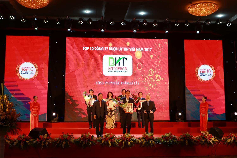 Dược phẩm Hà Tây đứng thứ 7 trong Top10 Công ty Dược Việt Nam uy tín nhất năm 2017