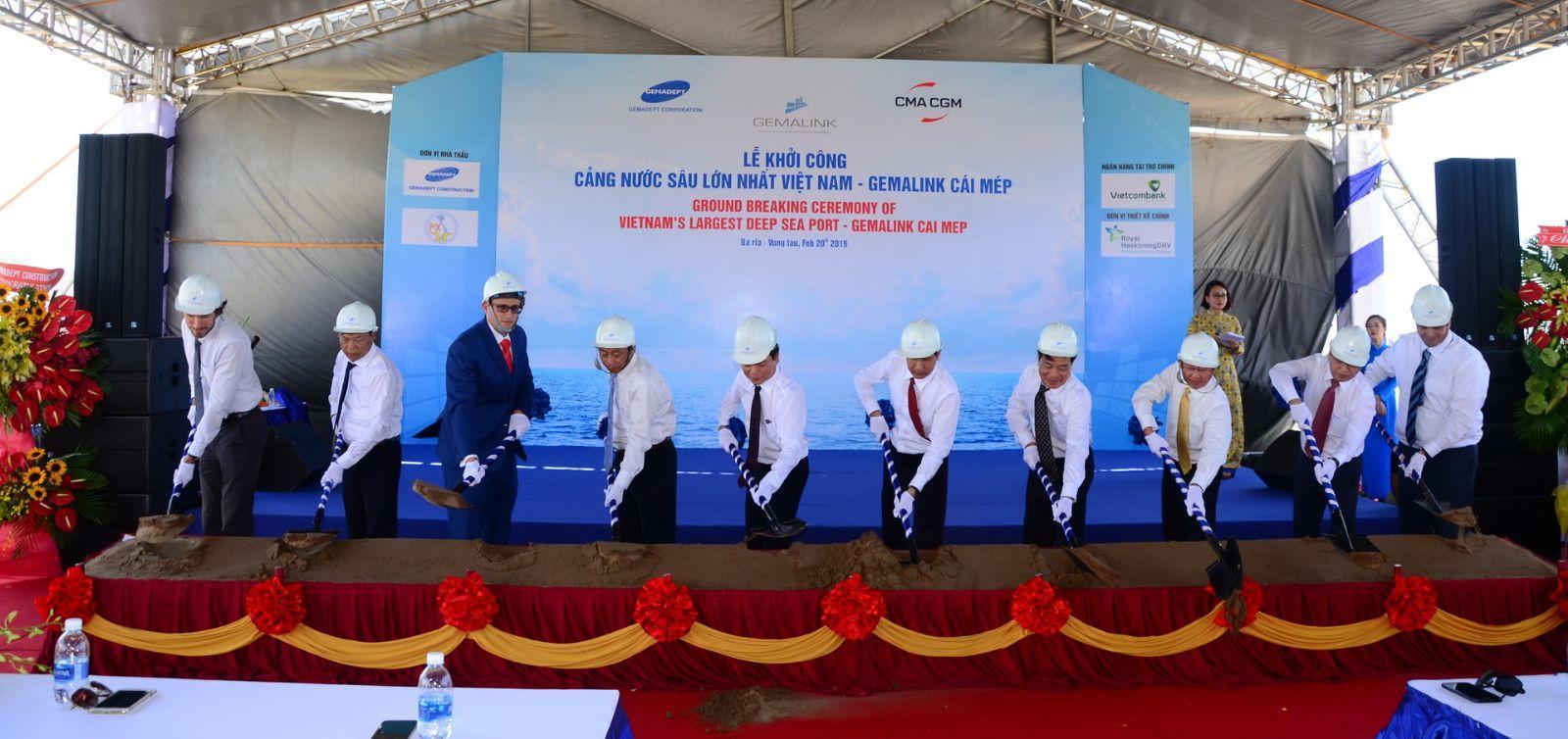 Lễ khởi công xây dựng Công trình Cảng Cái Mép Gemadept - Terminal Link (Gemalink)