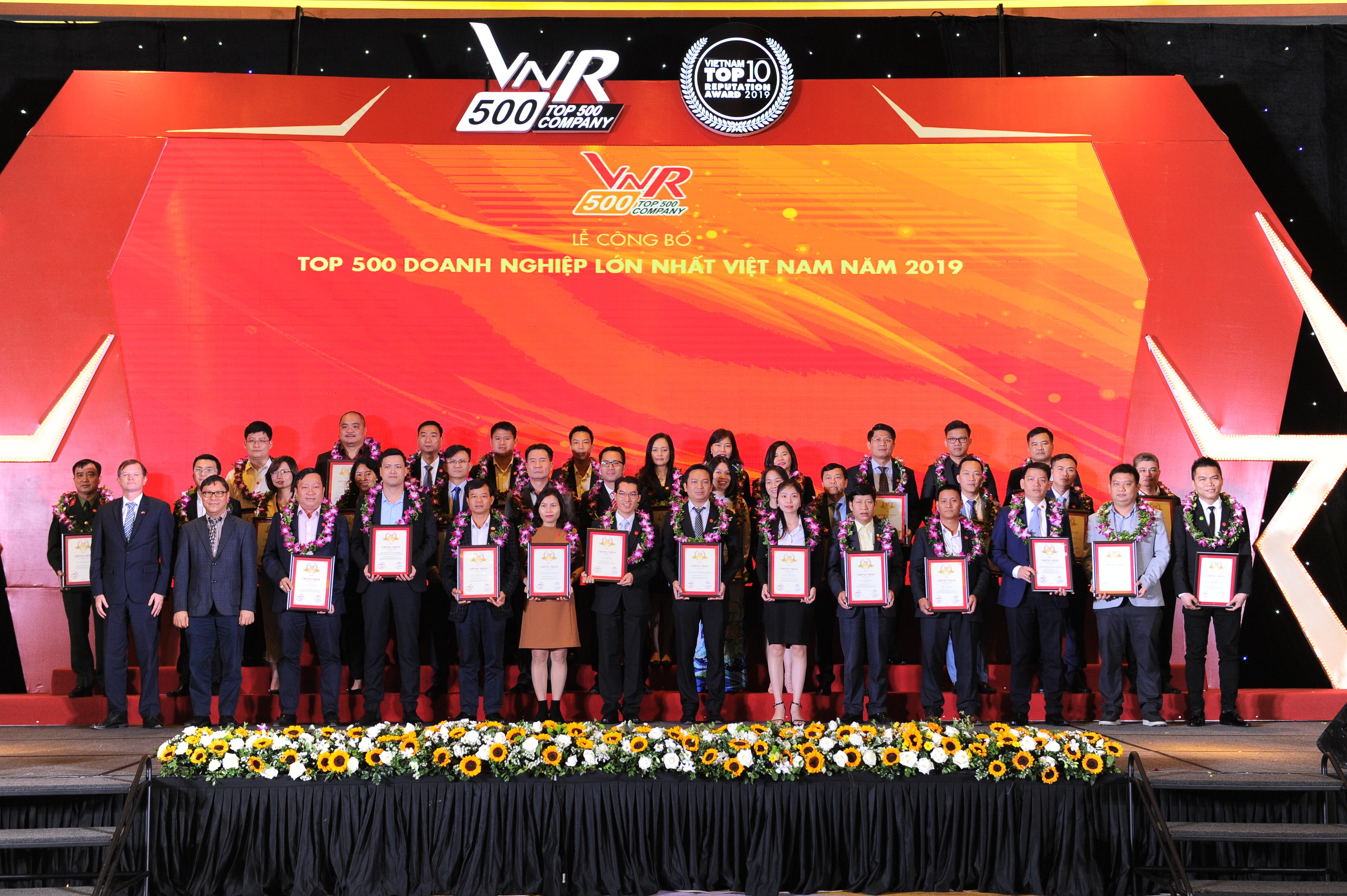 Eurowindow xuất sắc tăng hạng trong Top 500 doanh nghiệp lớn nhất Việt Nam năm 2019