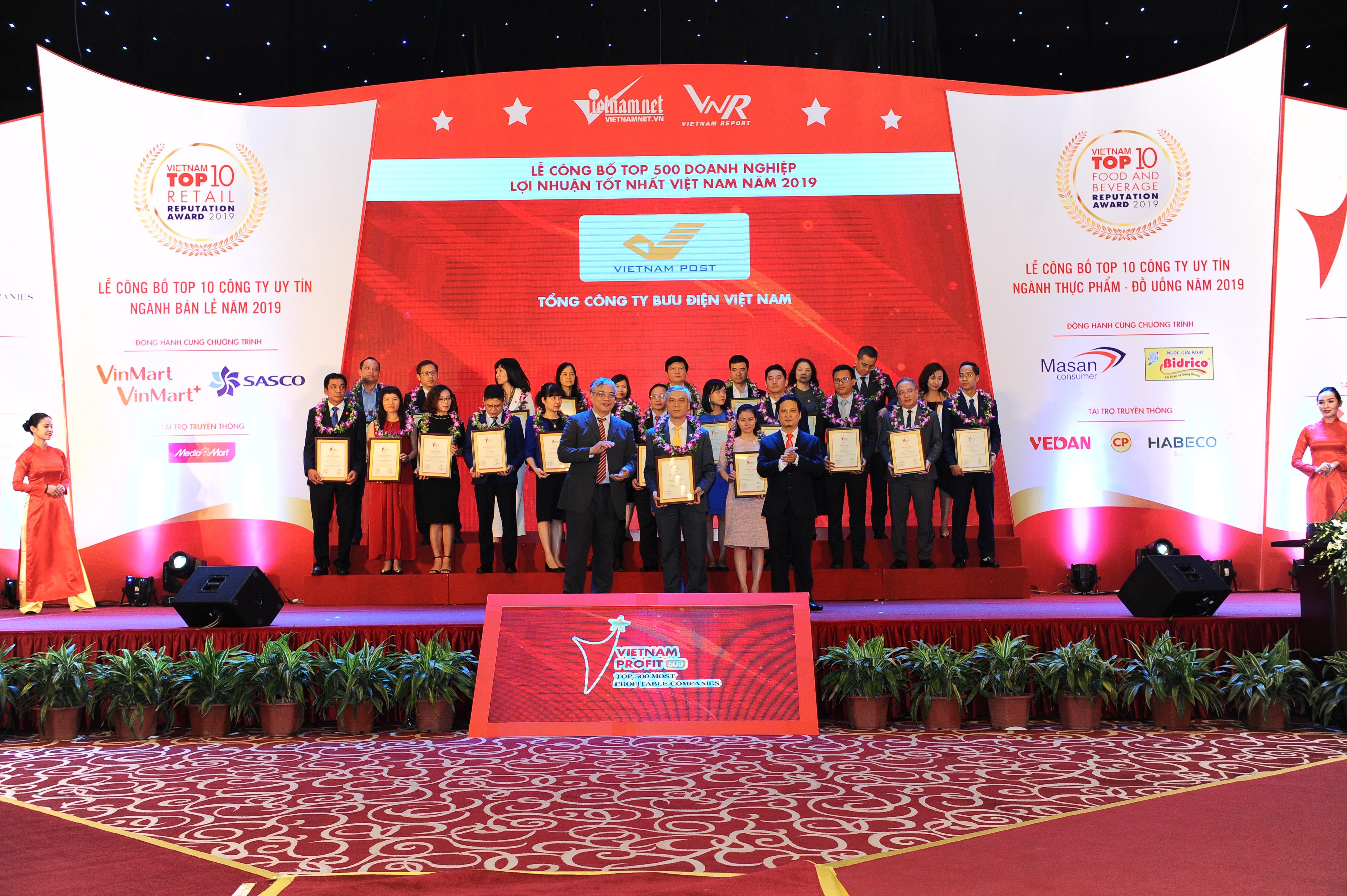 Bưu điện Việt Nam dẫn đầu lĩnh vực bưu chính chuyển phát tại Profit500