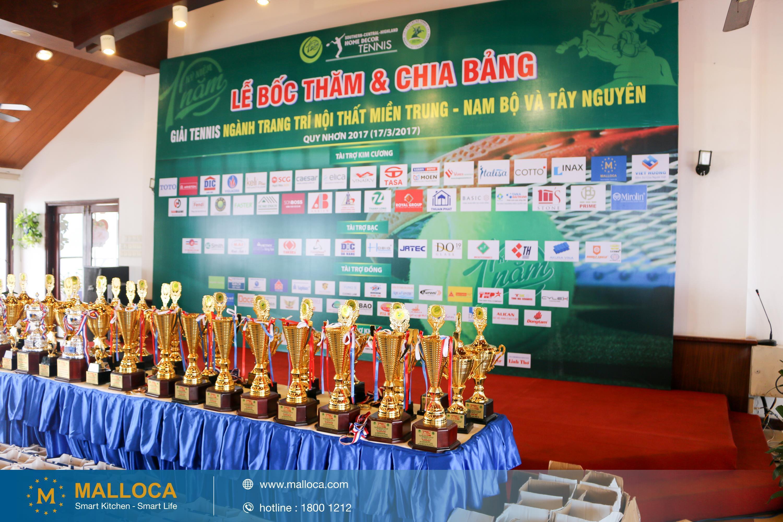 Malloca tài trợ giải Tennis Ngành trang trí nội thất miền Trung-Nam bộ & Tây Nguyên
