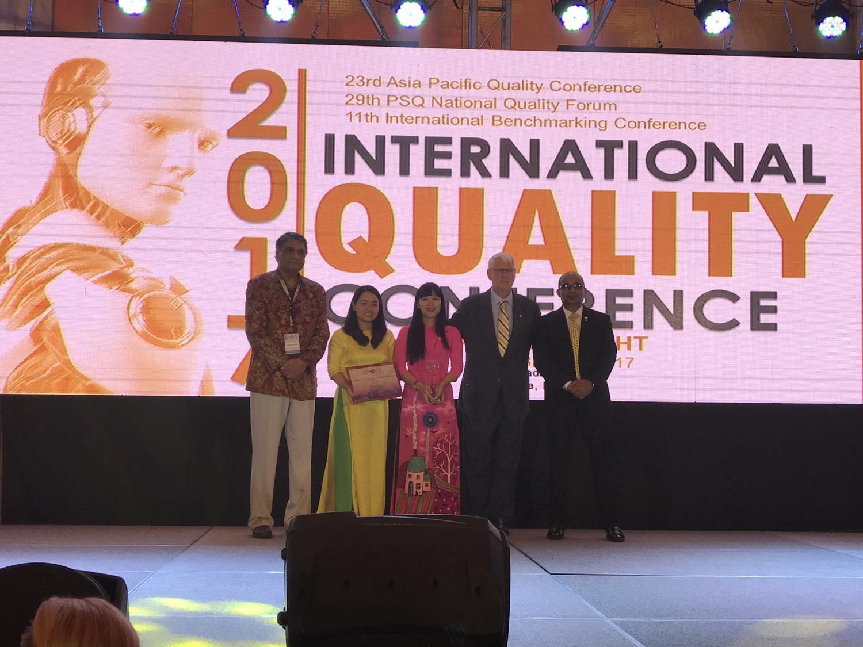 Yến sào Khánh Hòa nhận giải thưởng Chất lượng Quốc tế châu Á Thái Bình Dương năm 2017