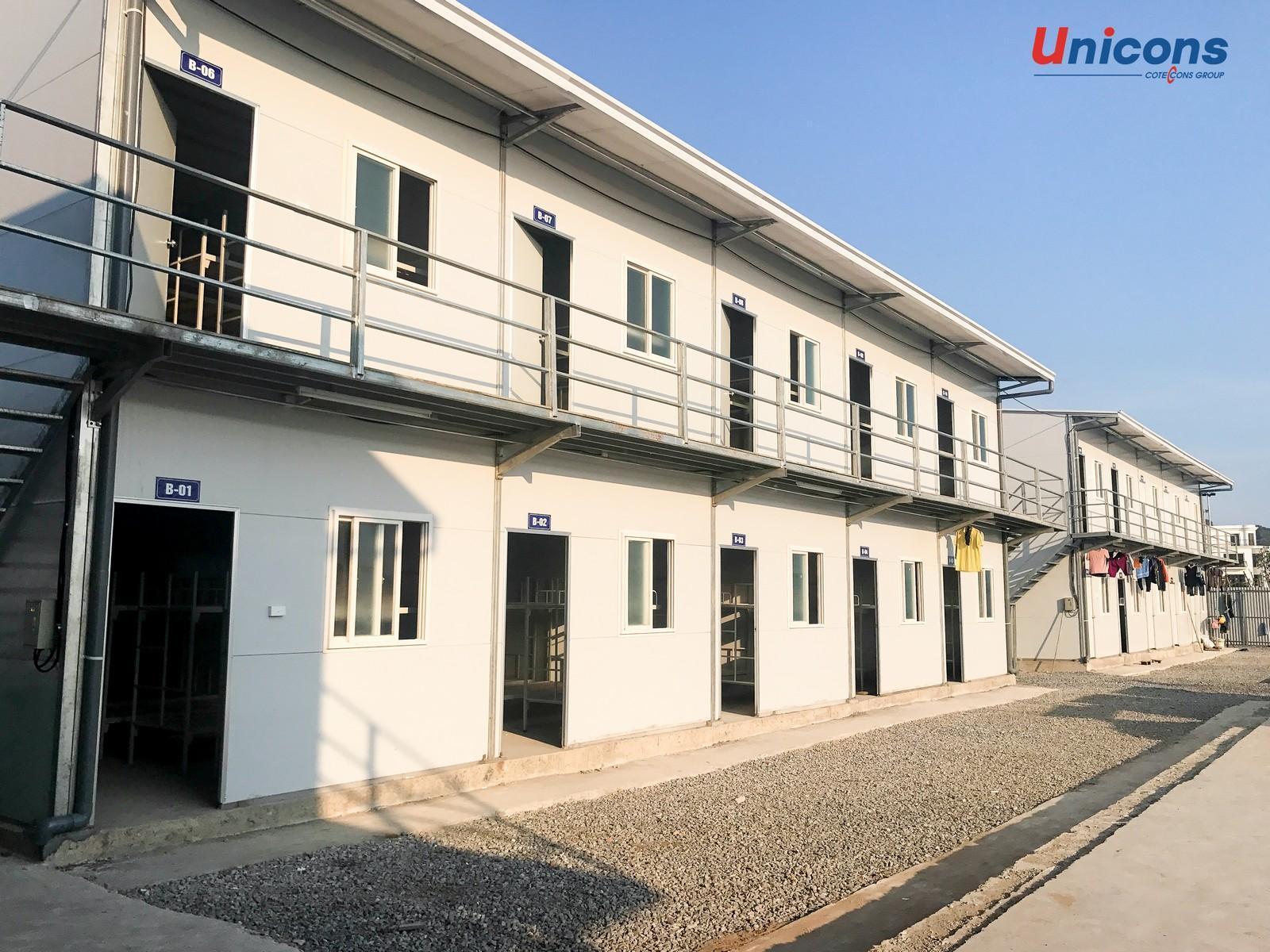 Unicons trang bị hệ thống nhà lưu trú hiện đại cho công nhân