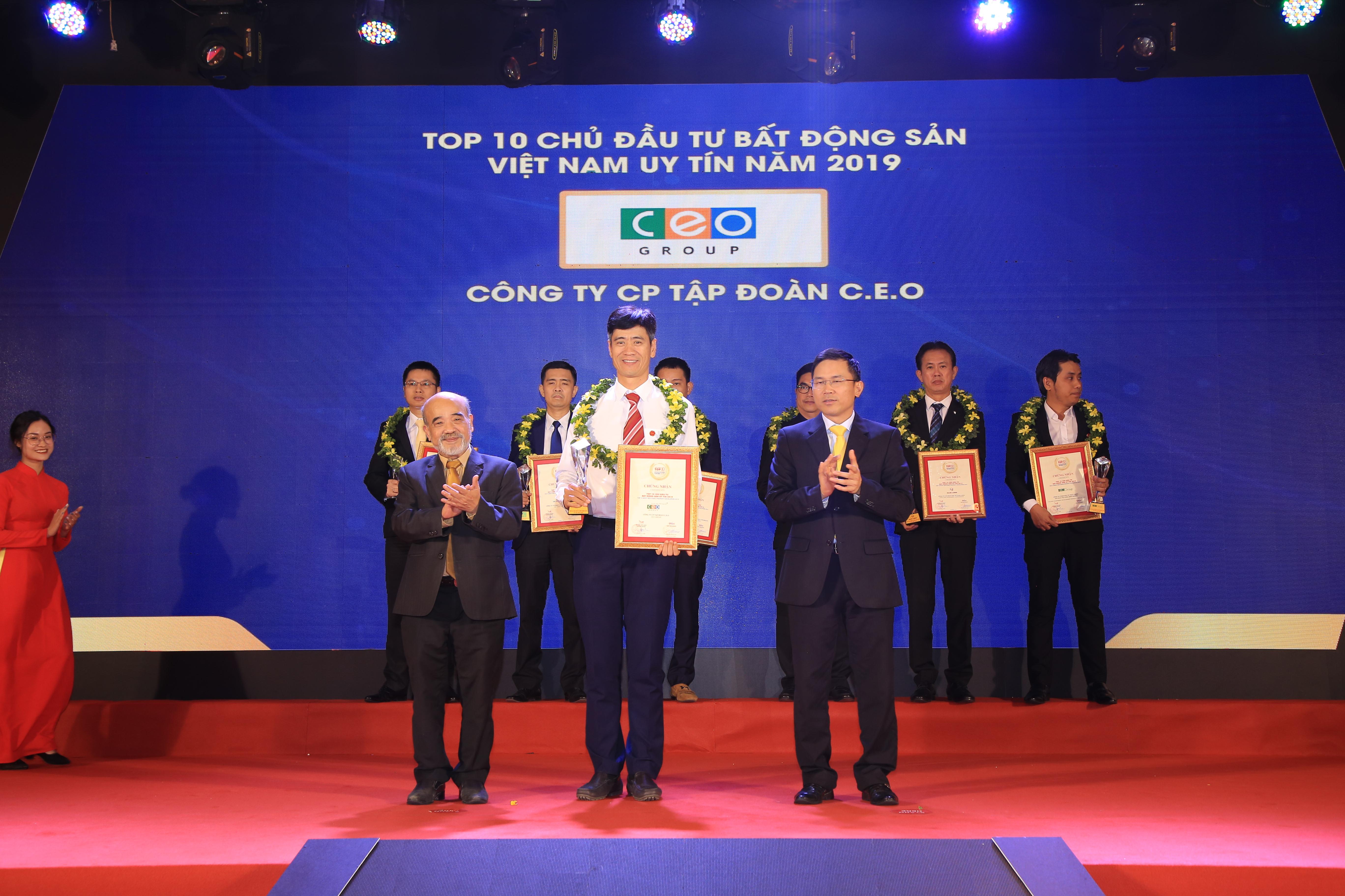Tập đoàn CEO xuất sắc vào Top 10 chủ đầu tư uy tín năm 2019
