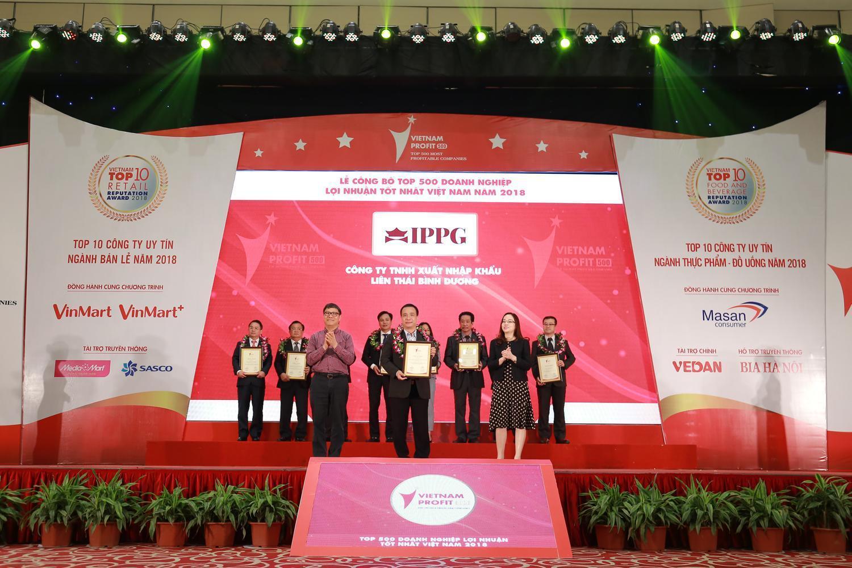 IPPG lọt Top 500 doanh nghiệp lợi nhuận tốt nhất Việt Nam năm 2018