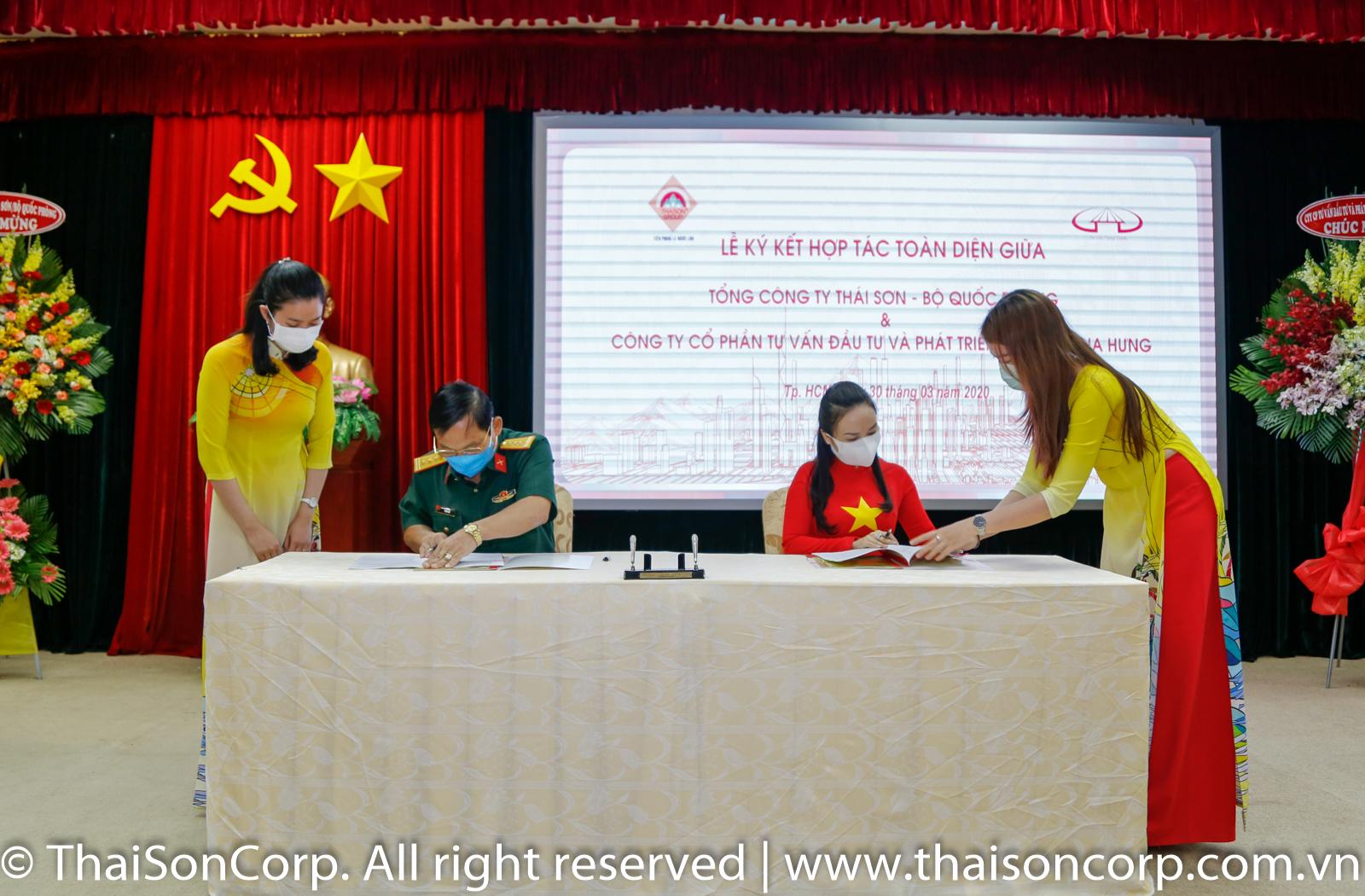 Tổng Công ty Thái Sơn ký kết thỏa thuận hợp tác toàn diện với Công ty CP Tư vấn Đầu tư Phát triển Hạ tầng Gia Hưng