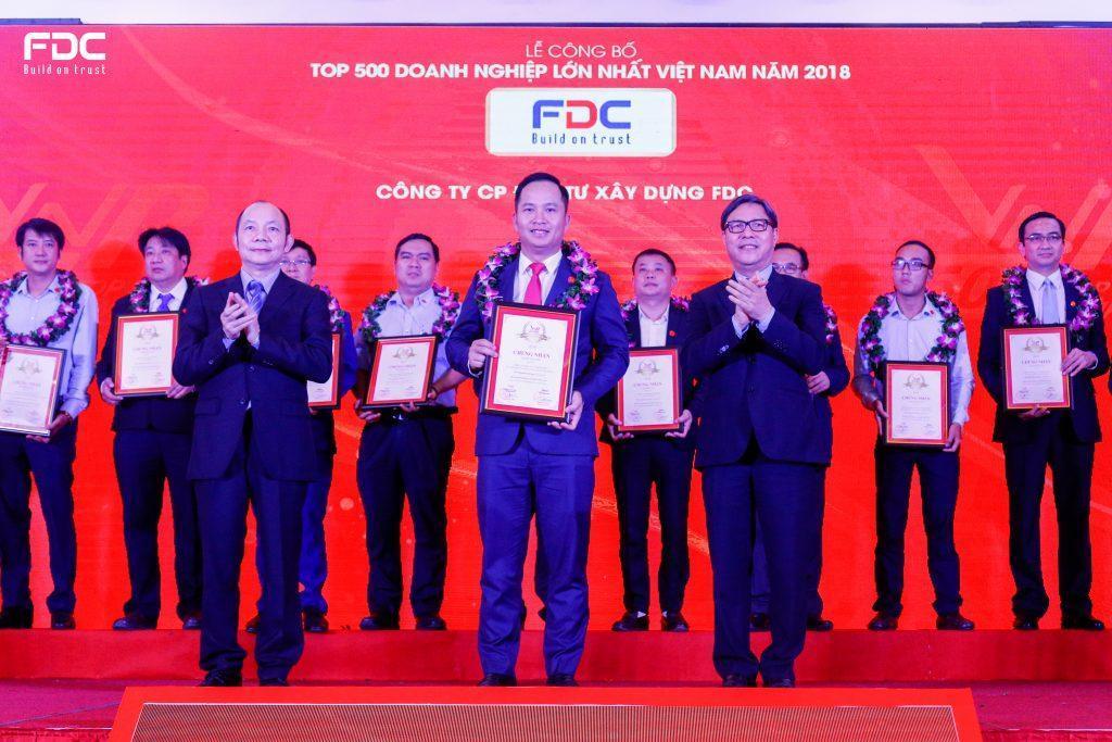 FDC xuất sắc lọt Top 500 doanh nghiệp lớn nhất Việt Nam 2018