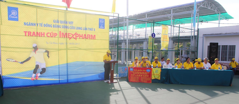 IMEXPHARM tổ chức thành công Giải quần vợt ngành y tế ĐBSCL – Tranh cúp Imexpharm năm 2017