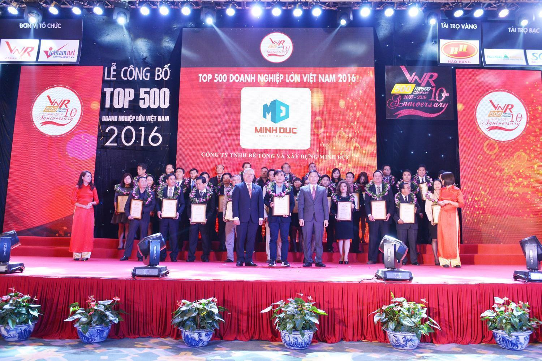 Minh Đức tiếp tục lọt top VNR500 năm 2016