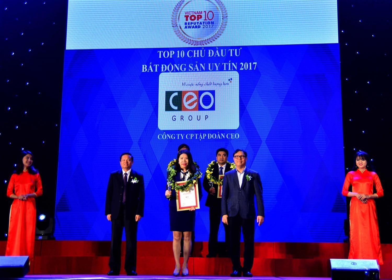 CEO Group lọt vào Top 10 chủ đầu tư bất động sản uy tín năm 2017