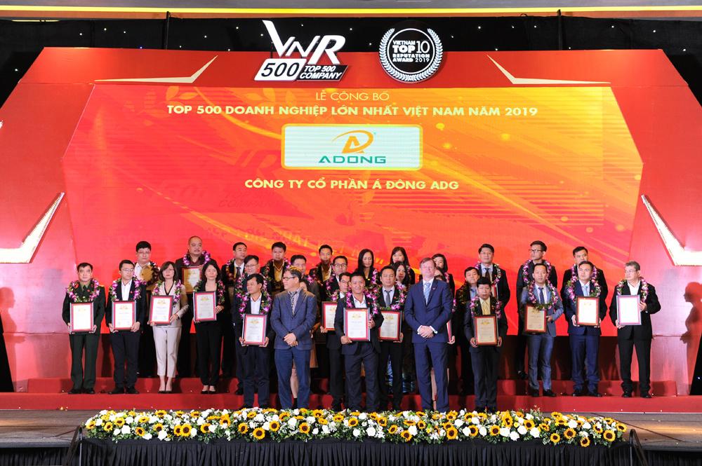 Công ty Á Đông ADG vinh dự nhận giải thưởng Top 500 Doanh nghiệp lớn nhất Việt Nam