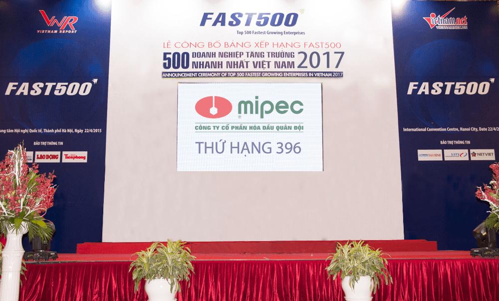 Mipec lọt top 500 doanh nghiệptăng trưởng nhanh nhất việt nam năm 2017