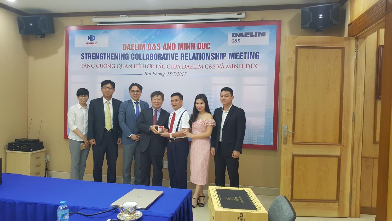Minh Đức - Daelim C&S: Tăng cường quan hệ hợp tác song phương