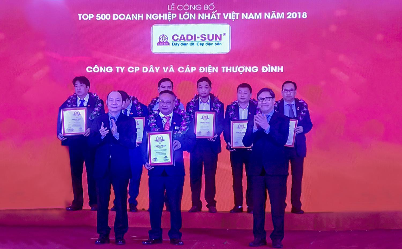 CADI-SUN: Top 500 doanh nghiệp lớn nhất Việt Nam 2018