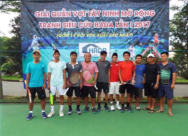 Tây Ninh tổ chức giải quần vợt mở rộng tranh siêu cúp HADA lần thứ nhất