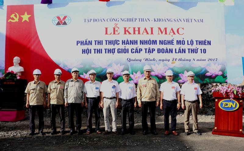 Khai mạc Hội thi thợ giỏi cấp Tập đoàn lần thứ X tại Công ty Than Đèo Nai