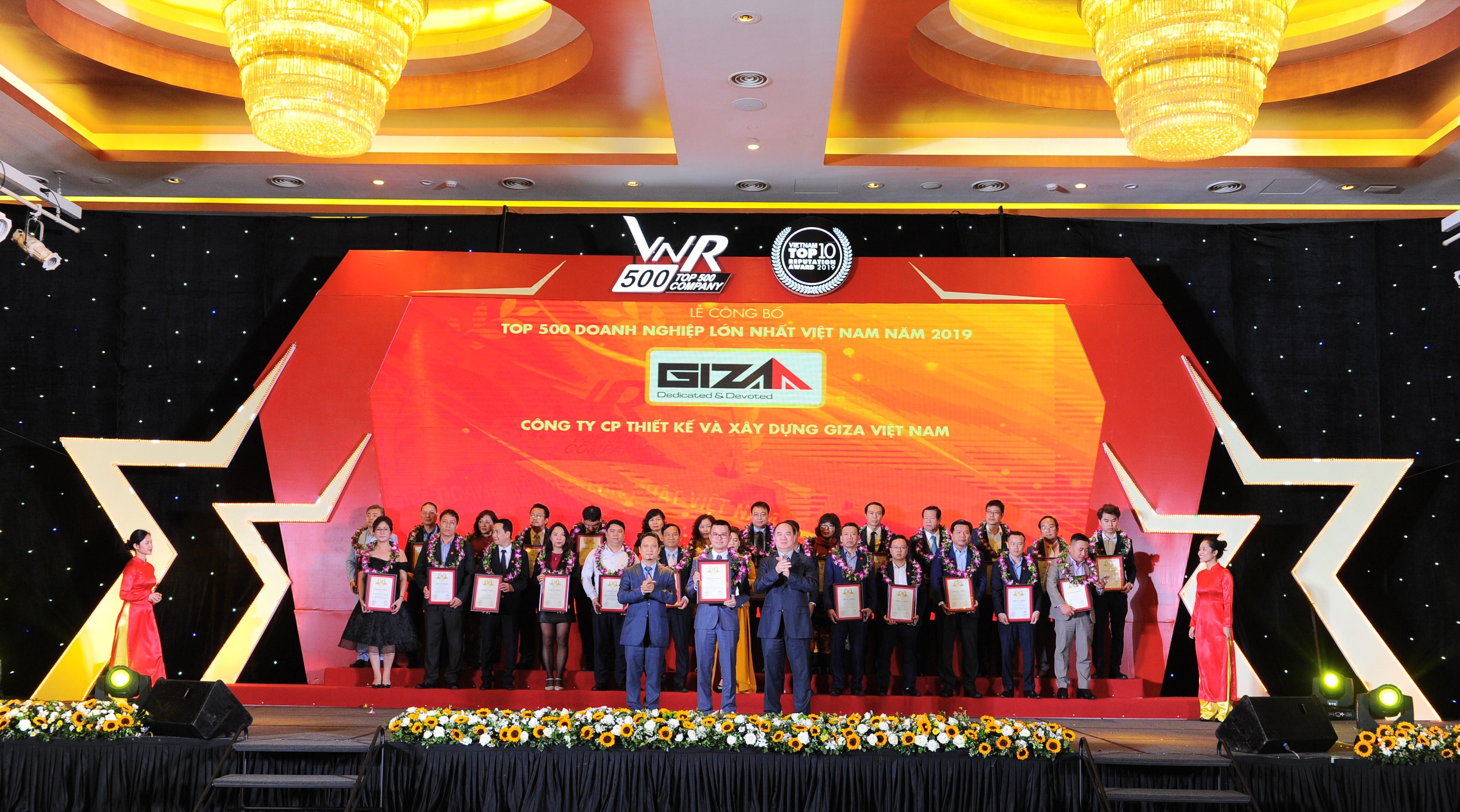 Giza E&C lọt Top 500 doanh nghiệp lớn nhất Việt Nam